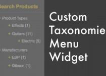 custom taxonomies menu widget