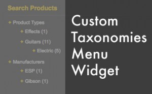 custom taxonomies menu widget