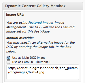 DCG Metabox screenshot - new version